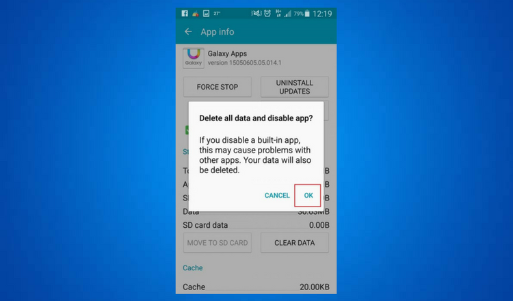 Disable Default android app without root