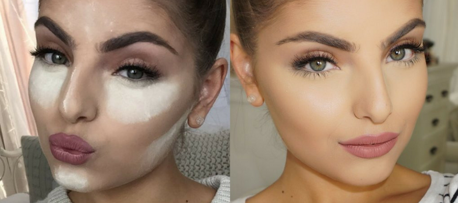 Baking to hide bags under the eyes