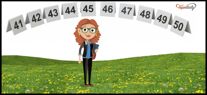 numbers in english 41 to 50