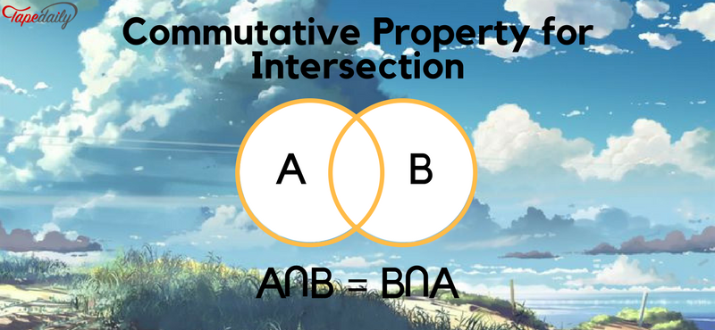 Commutative property for intersection