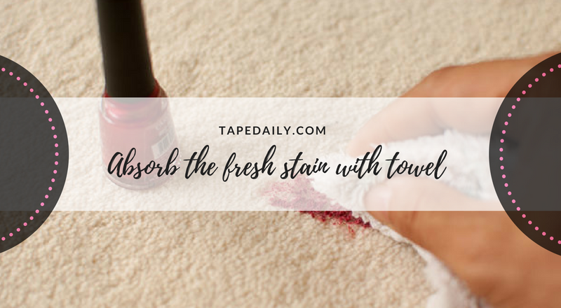 absorb the fresh stain with towel