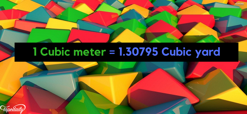 cubic meter to cubic yard