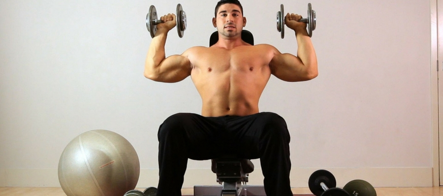 seated dumbbells