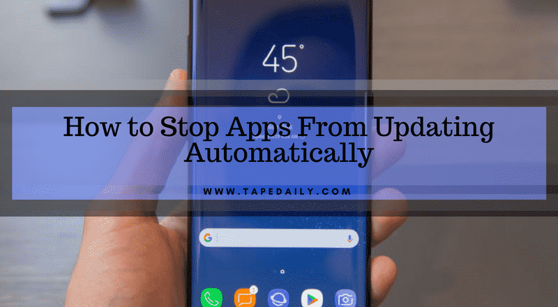 stop apps from updating automatically