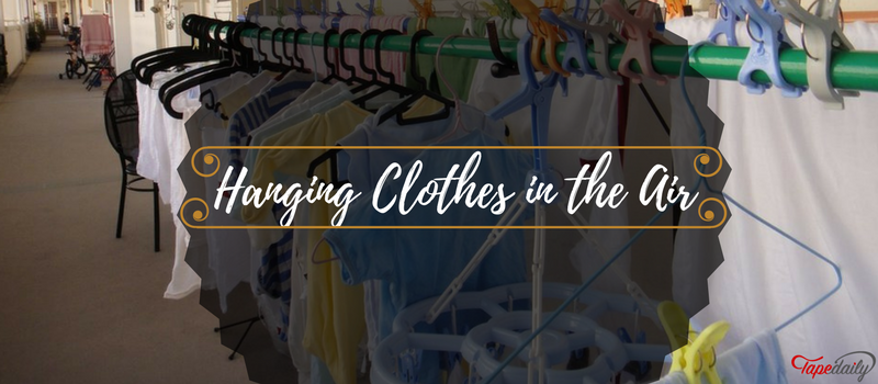 Hanging Clothes in the Air For Freshness