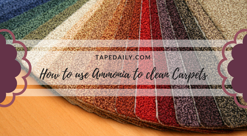 How to use ammonia to clean carpets