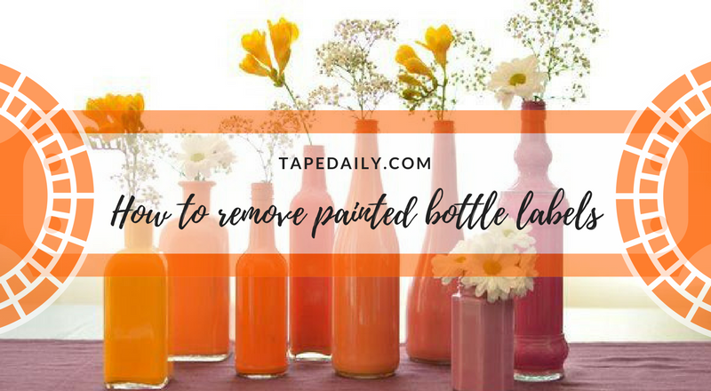 how to remove painted bottle labels