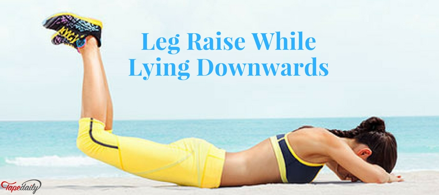 Leg Raise While Lying Downwards