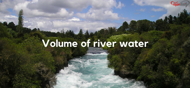 volume of the water