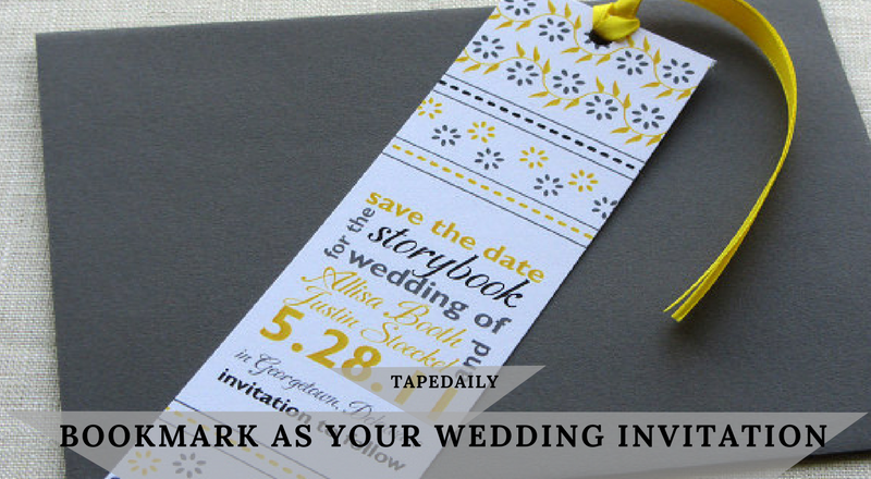 Bookmark as Your Wedding Invitation