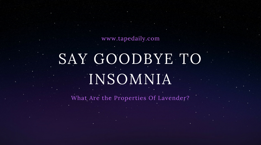 Lavender can treat insomnia