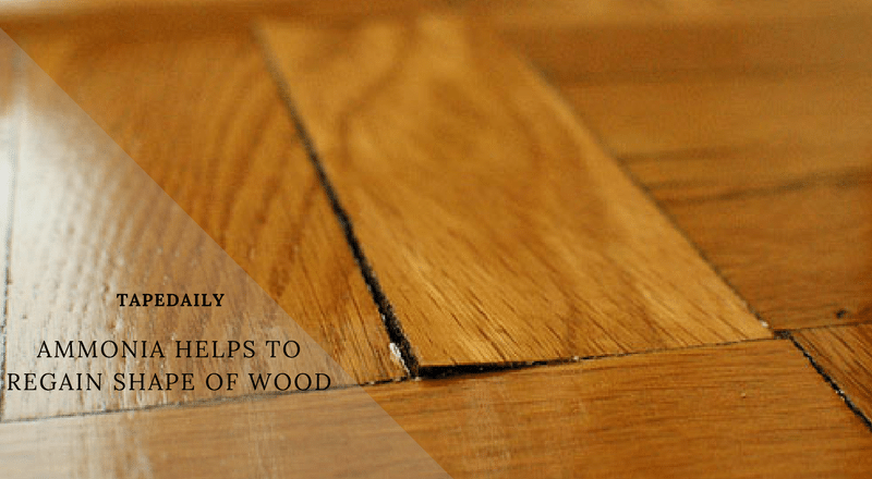ammonia helps you to regain shape of wood
