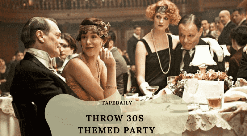 how to throw 30s themed party
