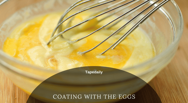 coating with the eggs