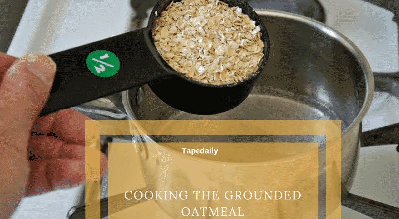 Cooking the oatmeal