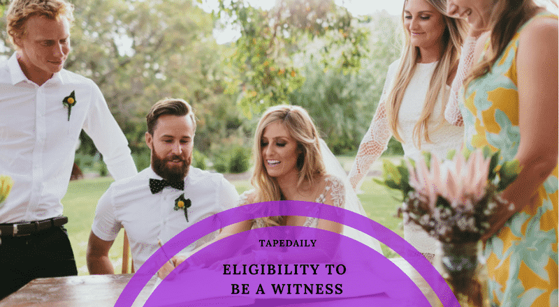 Eligibility to be a witness on a civil wedding