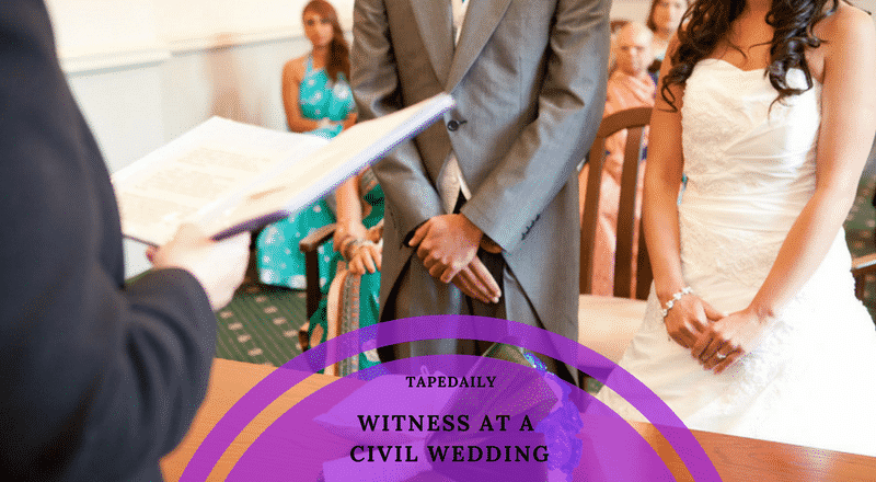 WITNESS AT A CIVIL WEDDING