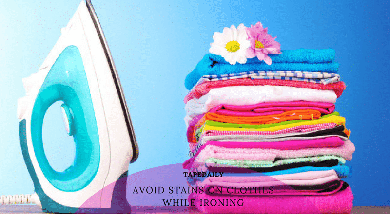 avoid stains on clothes while ironing