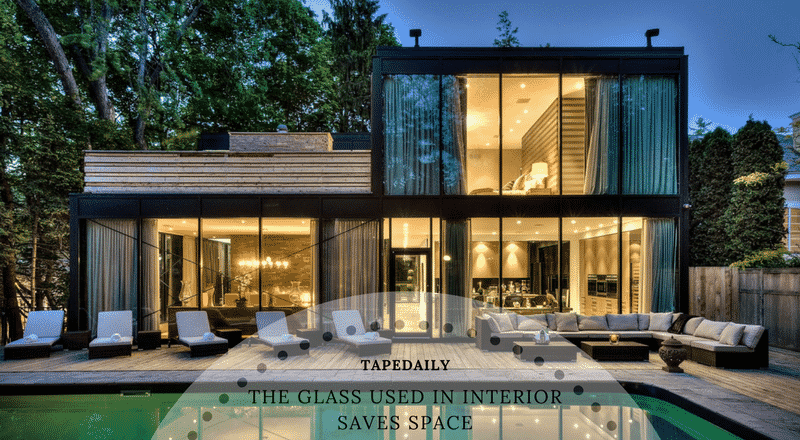 glass used in interior saves soace