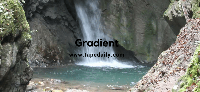 gradient of river channel