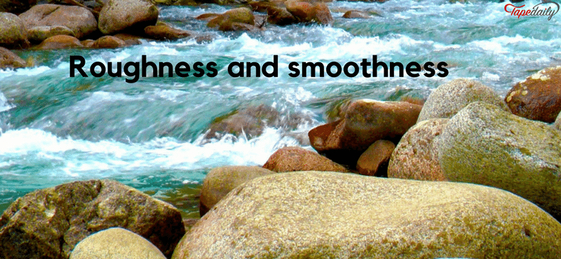 roughness of river water