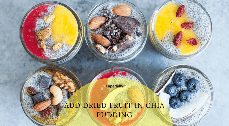 Dry fruits and chia pudding