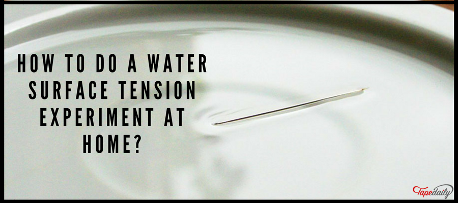 How To Do A Water Surface Tension Experiment At Home