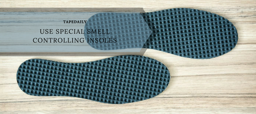 Use a special smell controlling insoles