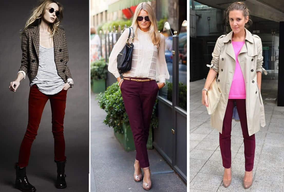 What To Pair With Burgundy Pants