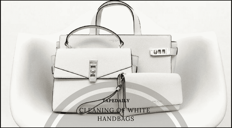 cleaning of white handbags