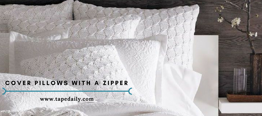 cover pillows with a zipper
