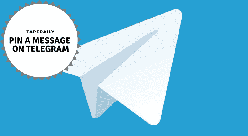 how to Pin a Message on Telegram