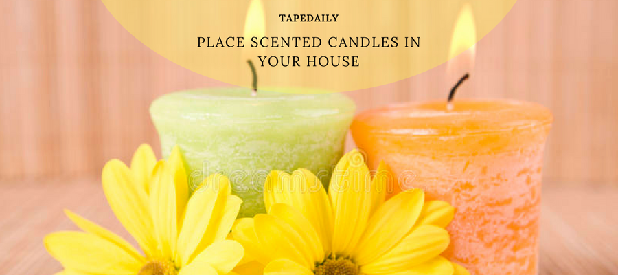 place scented candles in your house