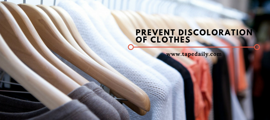 prevent discoloration of clothes
