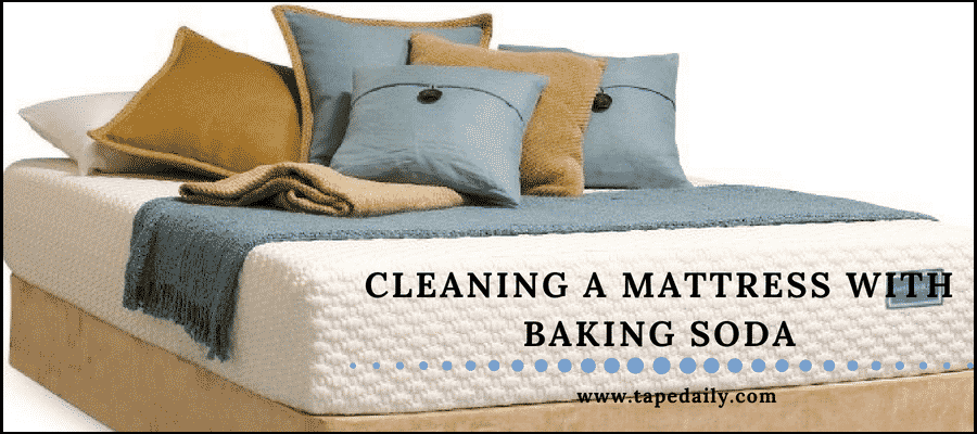 Cleaning a mattress with baking soda