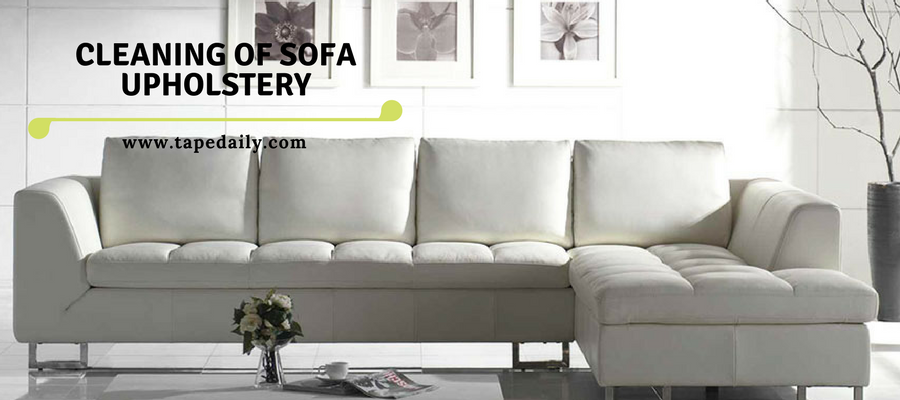 Cleaning of sofa upholstery