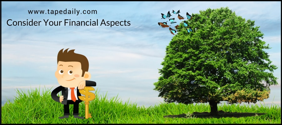 Consider Your Financial Aspects