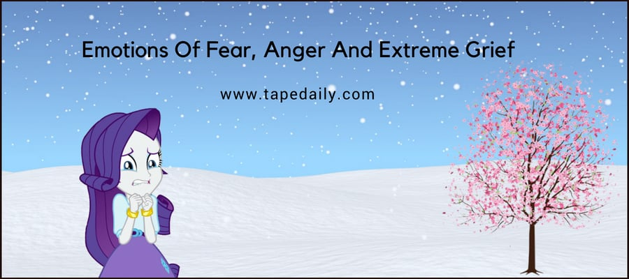 Emotions Of Fear, Anger And Extreme Grief