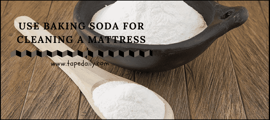 Use baking soda for cleaning a mattress