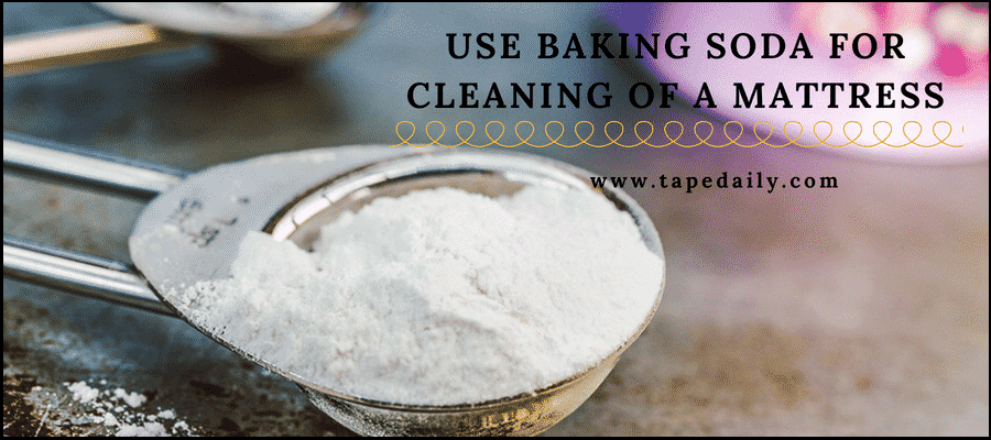 Use baking soda for cleaning of a mattress