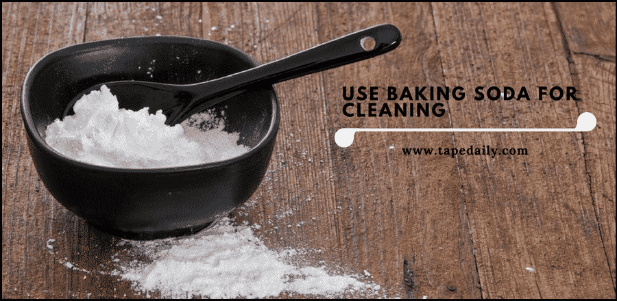 use baking soda for cleaning