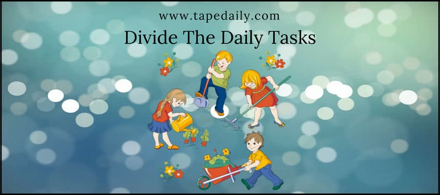 Divide The Daily Tasks
