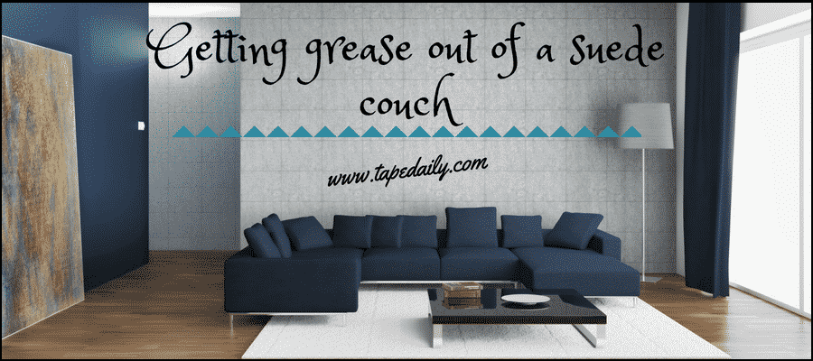 Getting grease out of a suede couch