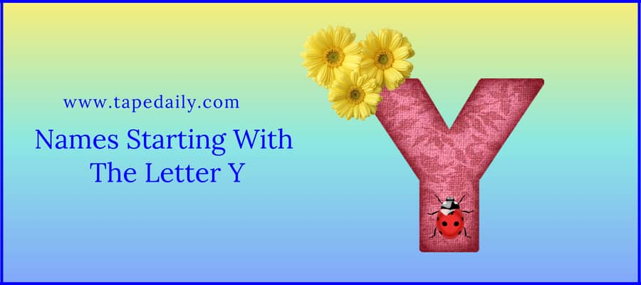 Names Starting With The Letter Y