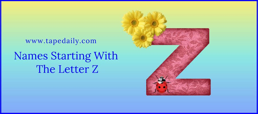 Names Starting With The Letter Z