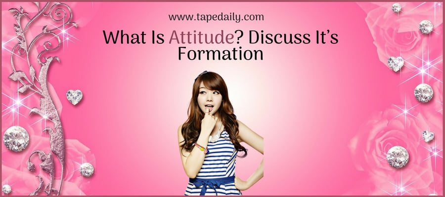 What Is Attitude? Discuss It's Formation