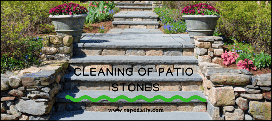 cleaning of patio stones