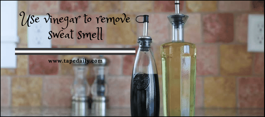 use vinegar for removing sweat smell