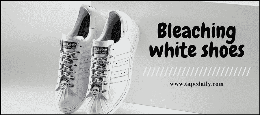Bleaching white shoes