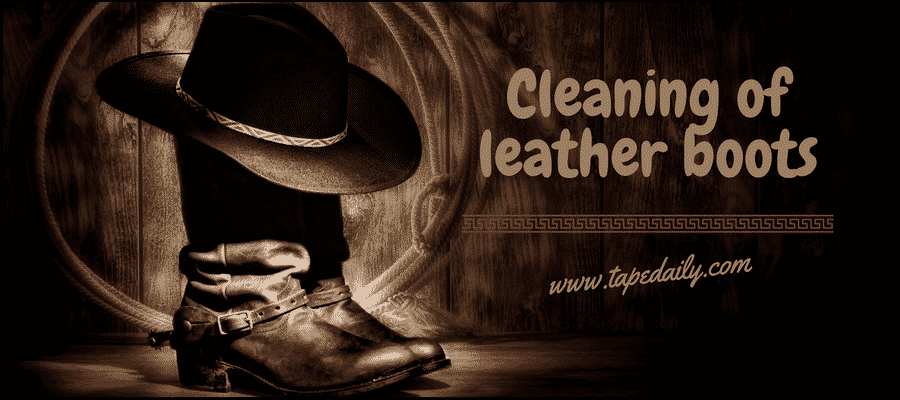 Cleaning of leather boots